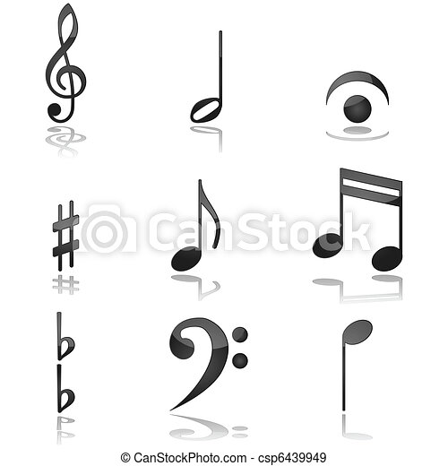 Musical notes - csp6439949