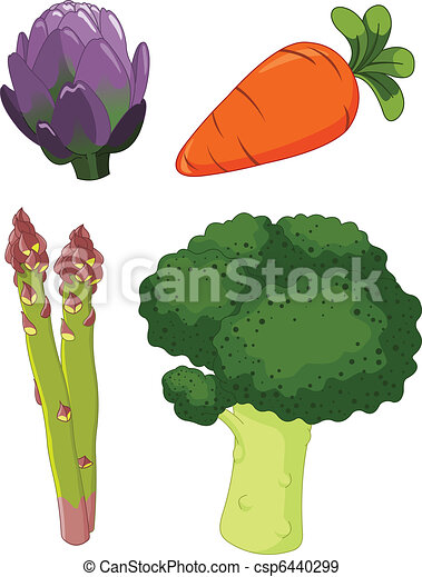 Set of vegetables 1 - csp6440299