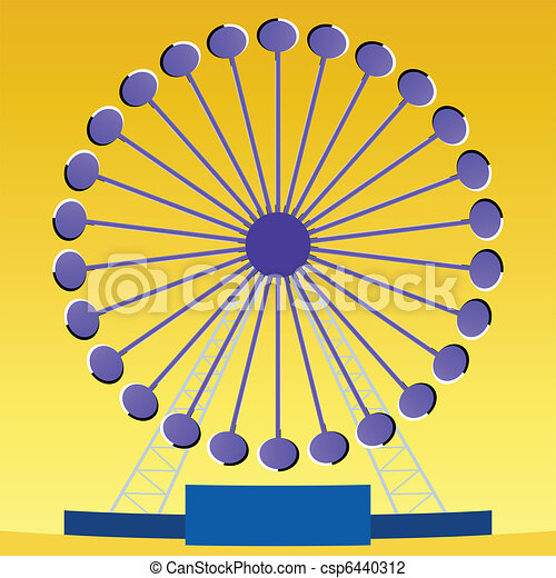 Optical illusion Ferris wheel  - csp6440312