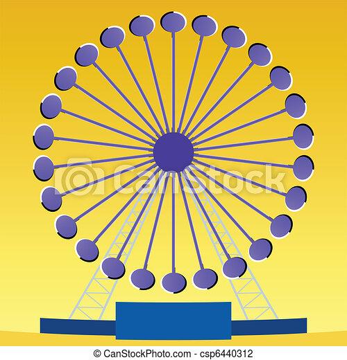 Optical illusion Ferris wheel  - csp6440312