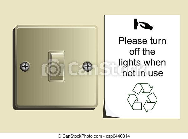 Conserve Energy - csp6440314