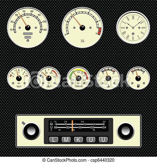 car gauges - csp6440320