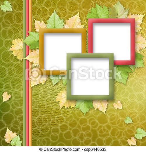 multicoloured holiday frames for greetings or invitations - csp6440533