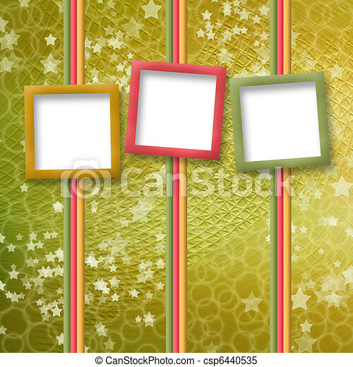multicoloured holiday frames for greetings or invitations - csp6440535