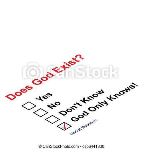 God exist questionnaire - csp6441330