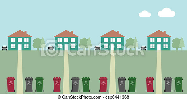 recycling wheelie bins - csp6441368