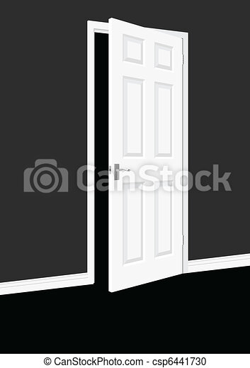 Open Door Clipart vector clipart of open door within a room csp6441730 - search clip