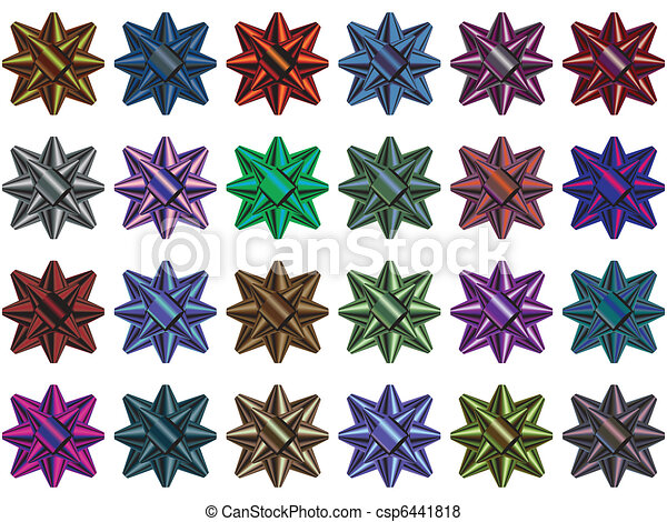 Gift bow multi colored selection - csp6441818