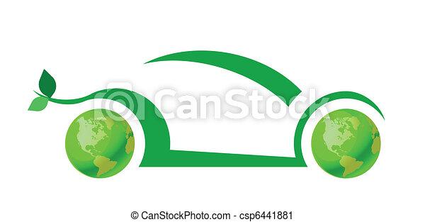 Green car concept - csp6441881