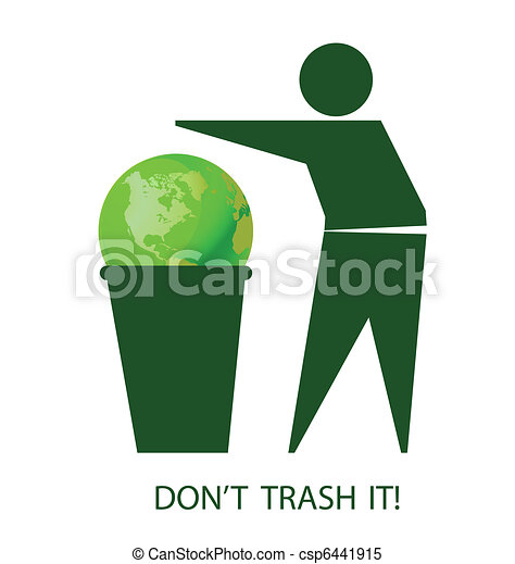 Do not trash the planet - csp6441915