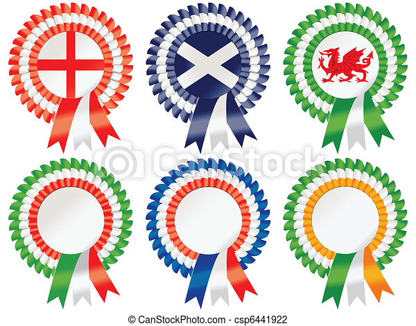 Six Nations Rosettes - csp6441922