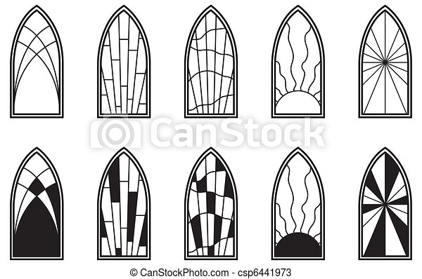 Stained Glass Windows - csp6441973