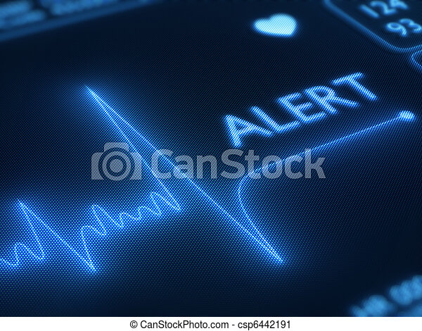 Flat line alert on heart monitor - csp6442191
