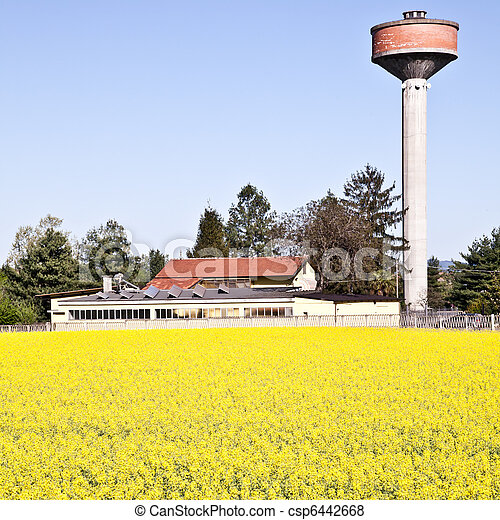 Country and water tower - csp6442668