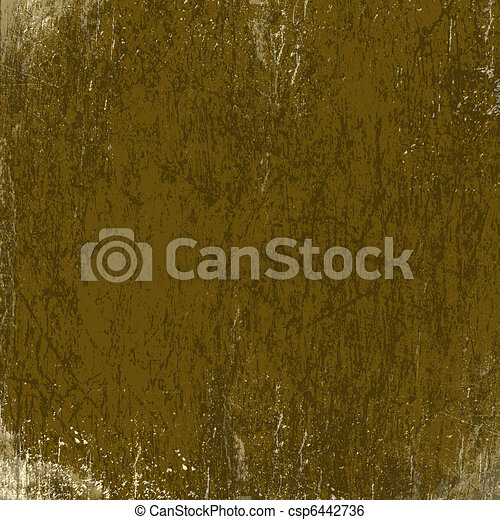 Abstract ancient background in scrapbooking style with gold ornamental - csp6442736