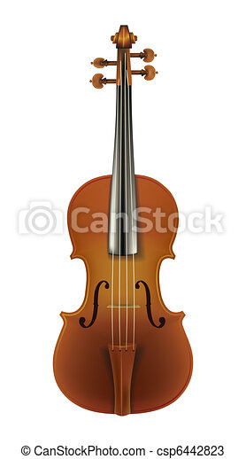 classic violin isolated on a white - csp6442823