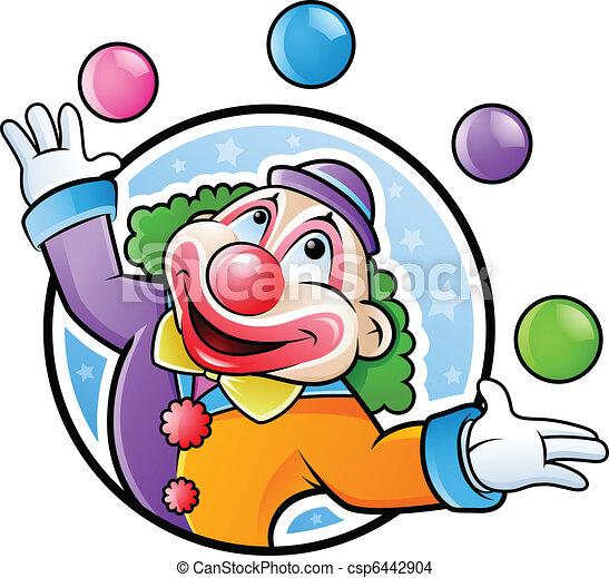 Happy clown - csp6442904