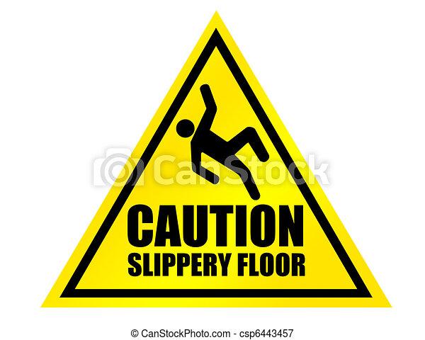 caution slippery floor sign - csp6443457
