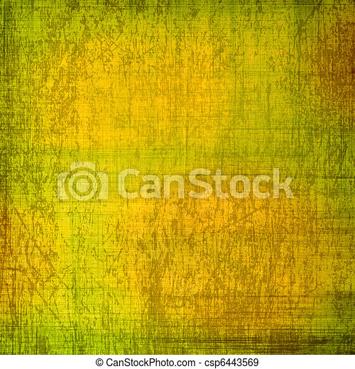 Abstract ancient background in scrapbooking style with gold ornamental - csp6443569