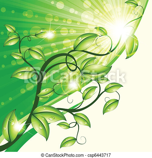 Nature design in green and tan - csp6443717