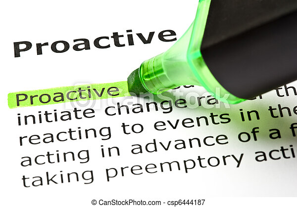 'Proactive' highlighted in green - csp6444187