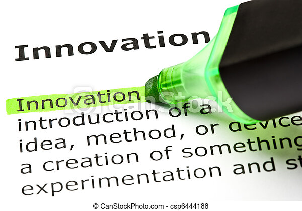 'Innovation' highlighted in green - csp6444188
