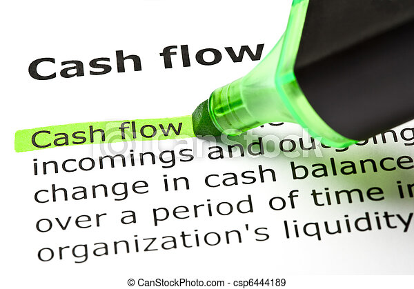 'Cash flow' highlighted in green - csp6444189