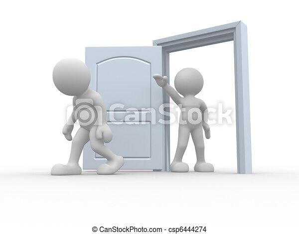 Kicked out door - csp6444274