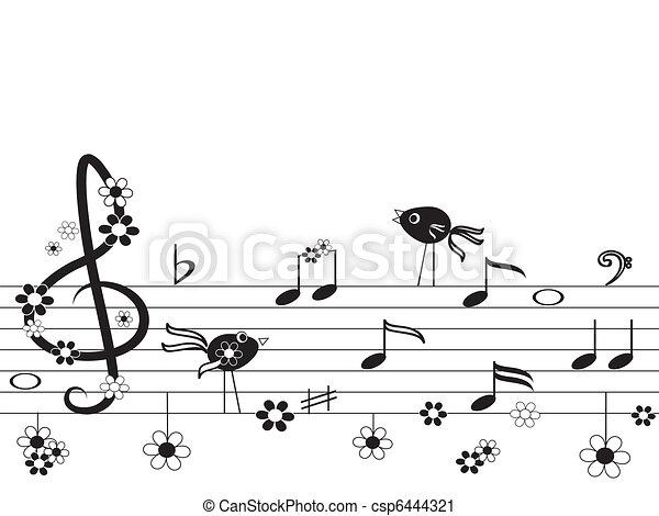 Music notes - csp6444321