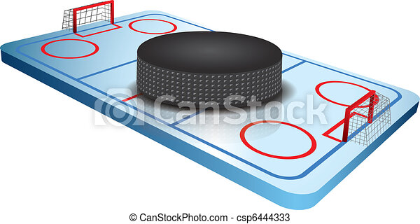 3d Hockey field vector - csp6444333