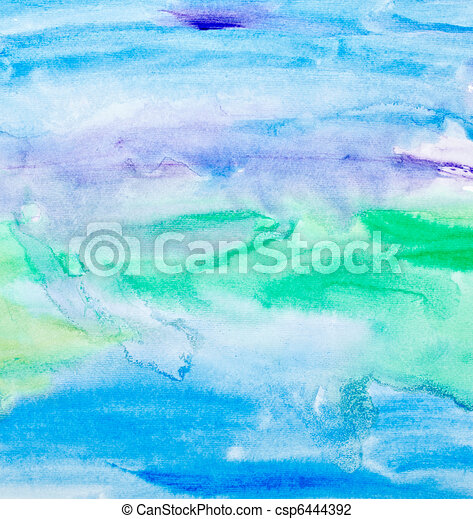 color strokes watercolor painting art - csp6444392