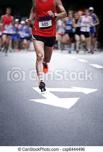 Marathon runners - blurred motion - csp6444496