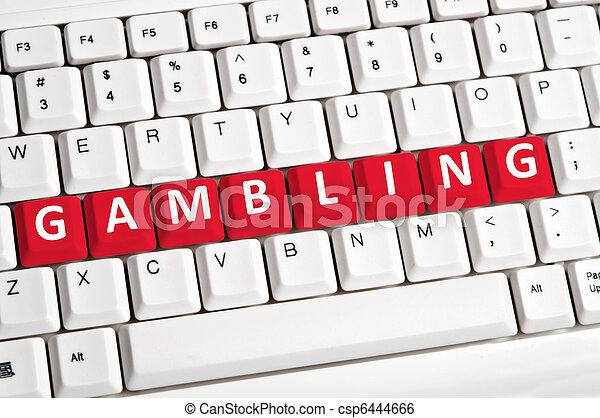 Gambling word on keyboard - csp6444666
