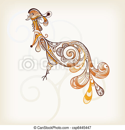 Vectors Illustration of vector abstract peacock - vector ...