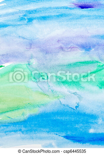 color strokes watercolor painting art - csp6445535