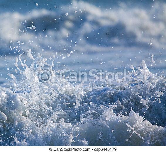 Surf with Splashing Water Drops - csp6446179