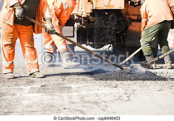 Asphalt paving works - csp6446403