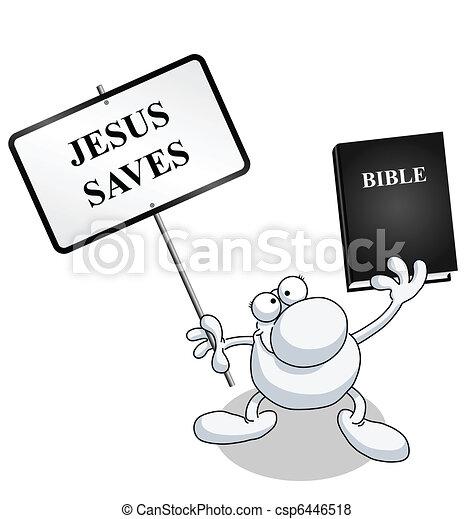 Jesus saves  - csp6446518