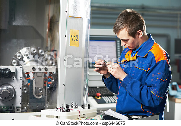 worker measuring detail - csp6446675