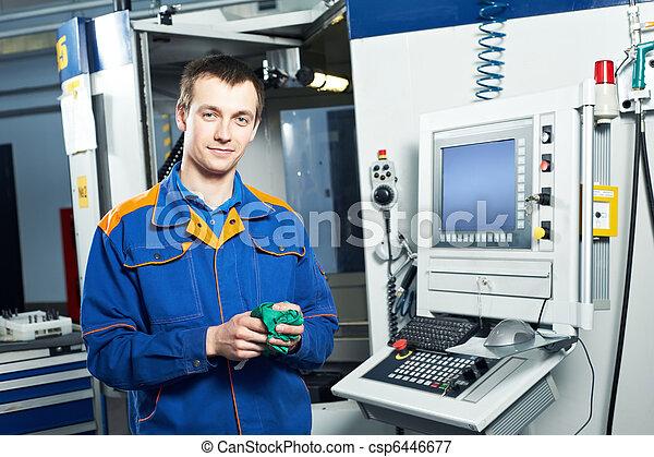 worker at tool workshop - csp6446677