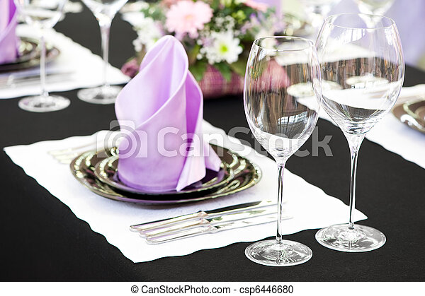 close-up catering table set - csp6446680