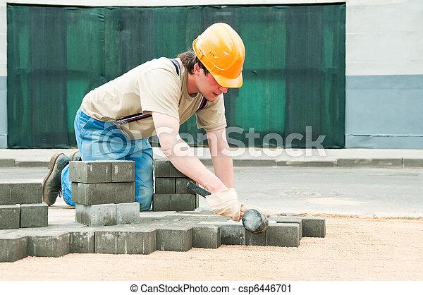 sidewalk pavement construction works - csp6446701