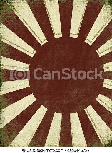 Antique Rising Sun Background - csp6446727