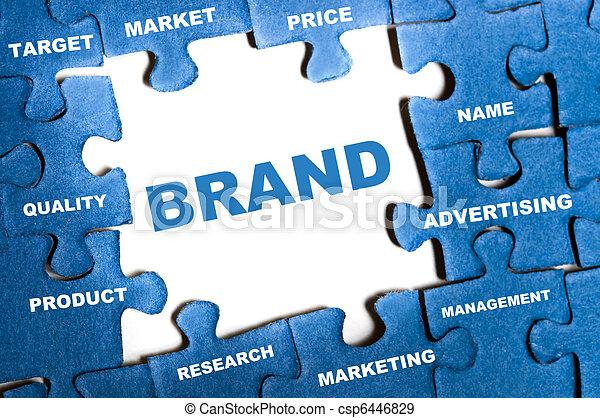 Brand puzzle - csp6446829
