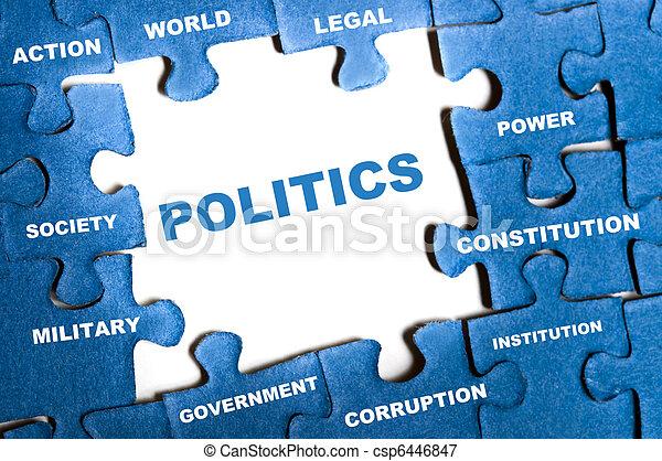 Politics puzzle - csp6446847