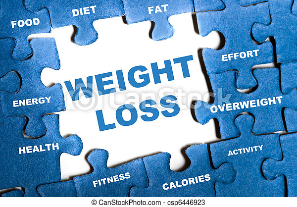 Weight loss puzzle - csp6446923
