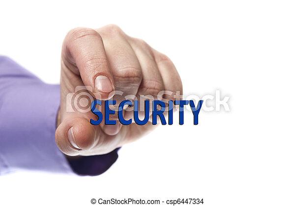 sicurezza, parola - csp6447334