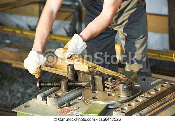 Bending reinforcement metal rebar rods - csp6447526