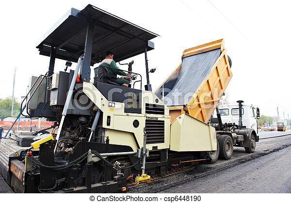 paver, Siguió la trayectoria, asfalto - csp6448190
