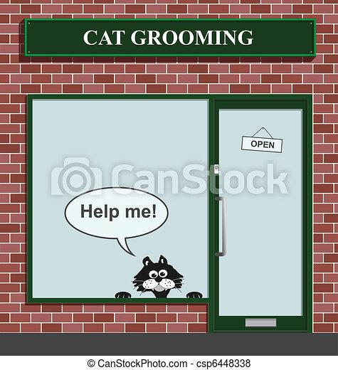 cat grooming establishment - csp6448338